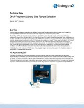 DNA Fragment Library Size Range Selection