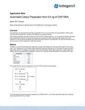 Automated Illumina Library Preparation from 0.5 ng ChIP DNA