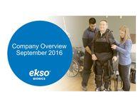 Ekso Bionics Corporate Presentation