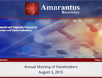 Annual Meeting of Shareholders August 3, 2015