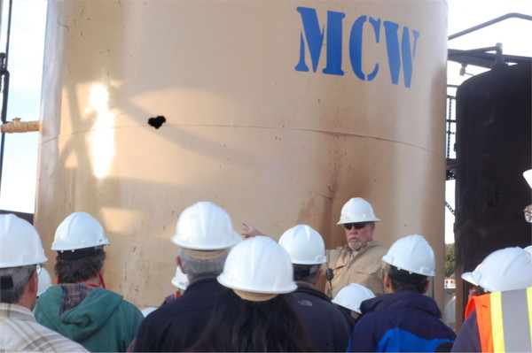 35th Shale Symposium VIP's Take Plant Tour of MCW Extraction Plant