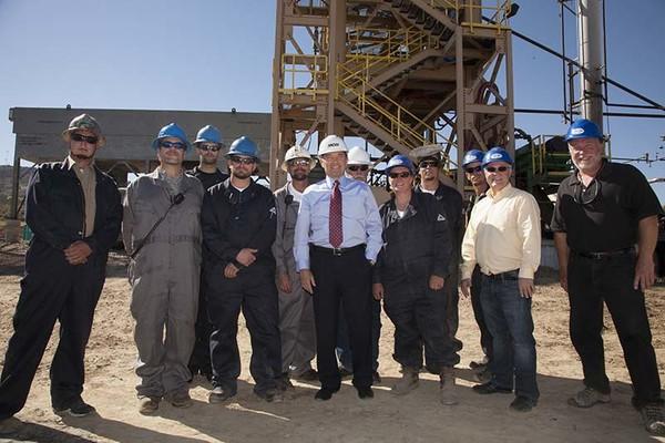 Utah Governor Gary Herbert Tours MCW Plant.