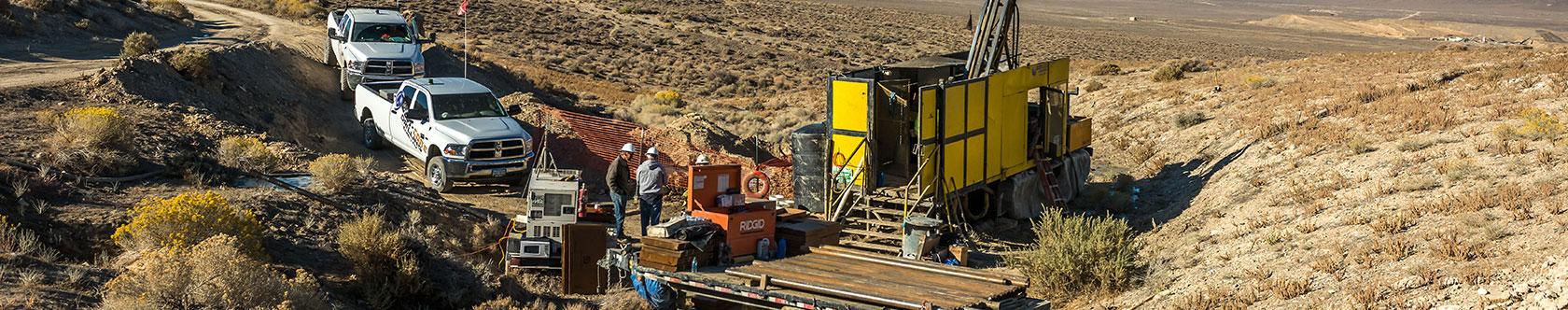 Diamond drill rig in the North area
