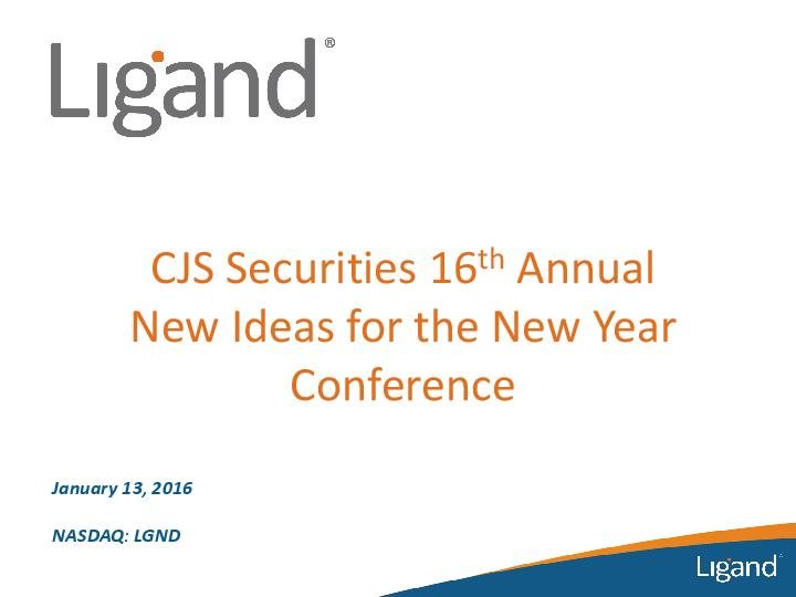 CJS Securities New Ideas for the New Year Conference