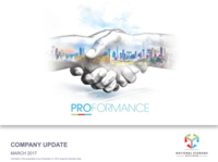 March 2017, Company Update
