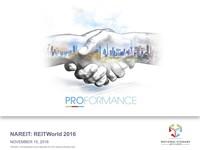 November 2016, NAREIT: REITWorld 2016