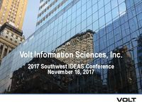Investor Presentation - 2017 Southwest IDEAS Conference