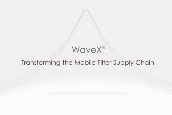 Resonant WaveX: Transforming the Mobile Filter Supply Chain