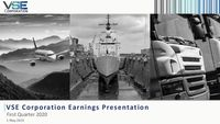 VSE Corporation Earnings Presentation for the First Quarter 2020