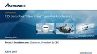 "CJS Securities ""New Ideas"" Summer Conference"