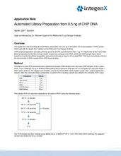 Automated Illumina Library Preparation from 0.5 ng ChIP DNA