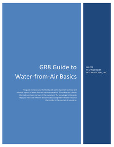 Water-from-Air Basics