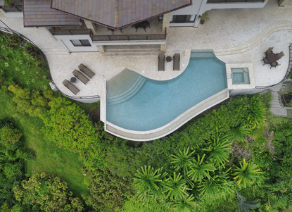 Aerial photos of Pool Area & Gardens. Casa Big Sur has 3 Acres of Native Plants - Casa Big Sur (36/50)