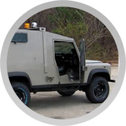 Arotech engages in utilizing advanced engineering concepts to manufacture military and paramilitary armored vehicles and produce aviation armor