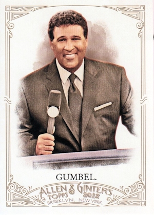 Greg Gumbel Featured In Topps Trading Card Series M3g Incorporated