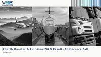 VSE Corporation Earnings Presentation for the Fourth Quarter 2020