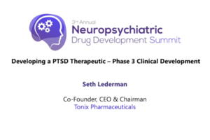 Developing a PTSD Therapeutic - Phase 3 Clinical Development