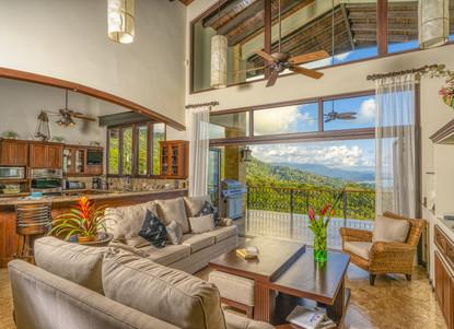 Living Area Views to Kitchen - Casa Big Sur (4/50)